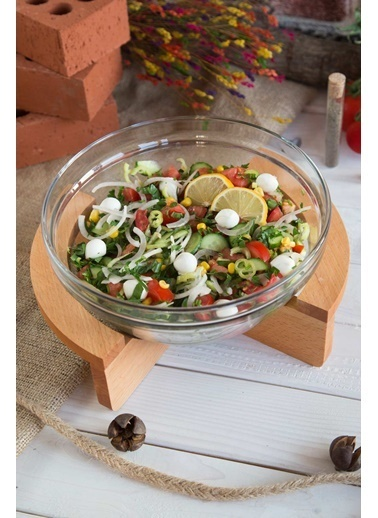 Joy Kitchen  Gardenıa Salata Kasesi- Ahşap Standlı Renkli